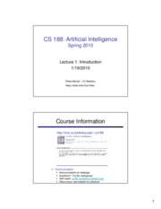 SP10 cs188 lecture 1 -- introduction (2PP)
