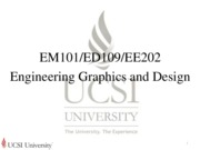 L1 Introduction To Engineering Graphics and Design