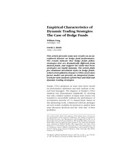 Empirical characteristics of dynamic trading strategies the case of hedge funds