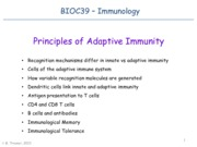 Lec06_Principles of Adaptive Immunity