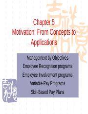 Chapter05 Motivation Applications