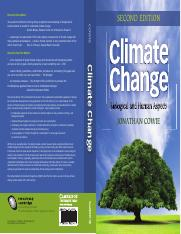 Climate Change, Biological and Human Aspects, Johnathan Cowie, 2nd Edition, Cambridge Press, 2013 (1