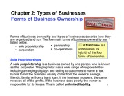 Chapter 2 Types of Business