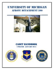 Updated Cadet Handbook