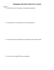 Mngt 305 blank Study Guide Exam 1
