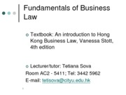 Lecture01_HKSAR_Legal_SystemBb FBL