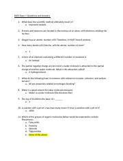 BIOS Exam 1 Questions and Answers.docx