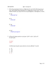 MSE160 2014 Quiz 1 (Ver.2) Solutions