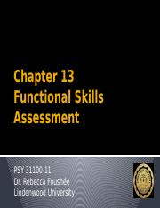 Chapter 13 - Functional Skills Assessment-1