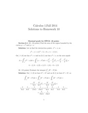 MATH 1101 Fall 2014 Homework 10 Solutions