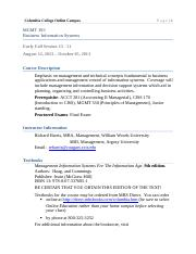 INFO SYSTEMS AUG 2013  MGMT 393 AB Syllabus LRG PRINT