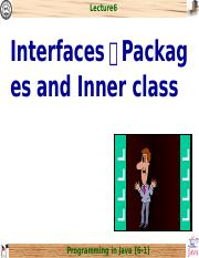 chap6_Interfaces、Packages and Inner class.ppt