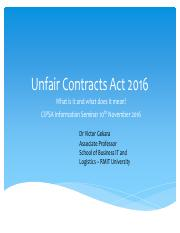 Unfair Contract Terms Act 2016 (1)(1)