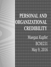 Personal and Organizational Credibility_BCOM231.pptx