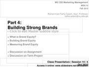 Session 13 - MG 220 MBA - 4 Oct 10