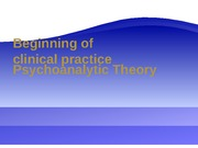 Psychoanalytic Theory for presentation