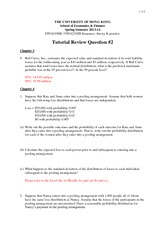 Tutorial 2 Suggested Answers