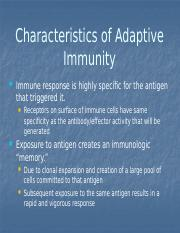 Characteristics of Humoral Immunity lect (6).pptx