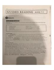 Guided reading activity 7-1 pages 169-175