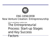 285B Week 2 Lecture 1 Start-up Stages TD