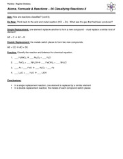 06 Notes - Classifying Reactions II