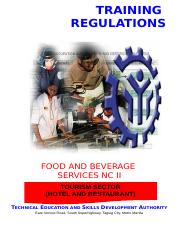 TR - Food and Beverage Services NC II