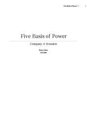 5 basis of power