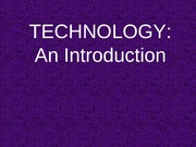 Technology - An Introduction (Chapter 1)