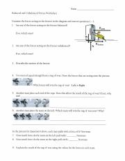 intro to forces packet pdf name balanced and unbalanced forces