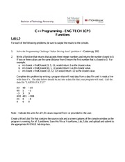Lab 5: Functions II