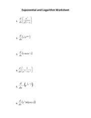 ExponentialDerivativeWorksheet