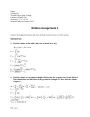 MAT-232 Written Assigment 1