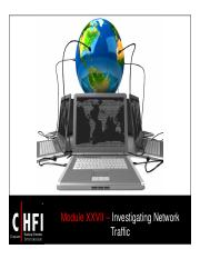 CHFI v4 Module 27 Investigating Network Traffic