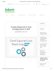 Tcodes Required to Test Configuration in SAP _ Adarsh Madrecha.pdf