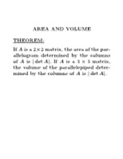 Area and volume notes