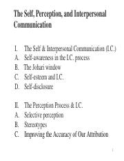 perception process in communication