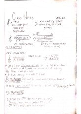 Major scale notes