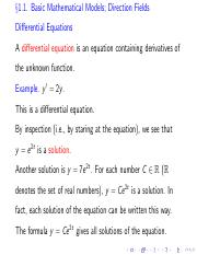 Math 555 Notes Sec 2-3 pdf - 2 3 Modeling with First Order Equations