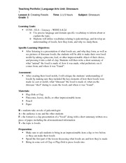 ENG 313 Lesson Plan #3 Fossils Fall 2013