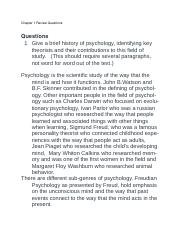 Chapter 1 ReviewQ-Psych