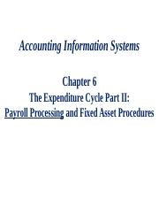 ACCT 560 - F2015 - Chapter 6 Slides - Payroll.pptx