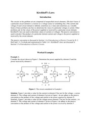 Kirchoff's Laws (worked problems)