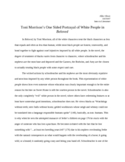 Toni Morrison�s One Sided Portrayal of White People in Beloved