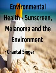 Environmental Health Sunscreen and Melanoma.pptx
