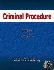 Criminal procedure by samaha, joel 8th (eighth) edition [hardcover.