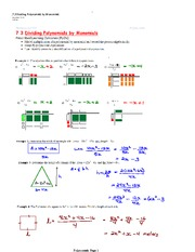 Dividing and Multiplying Polynomial Notes