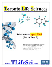 CHM 138 TT2 Solutions (April 2004 Test)