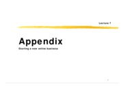 Lec 7 Appendix - Online Business