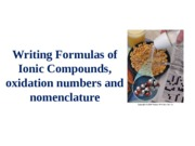 Writing Chemical Formulas and Nomenclature