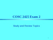 COSC 2425 Exam 2 Review_1